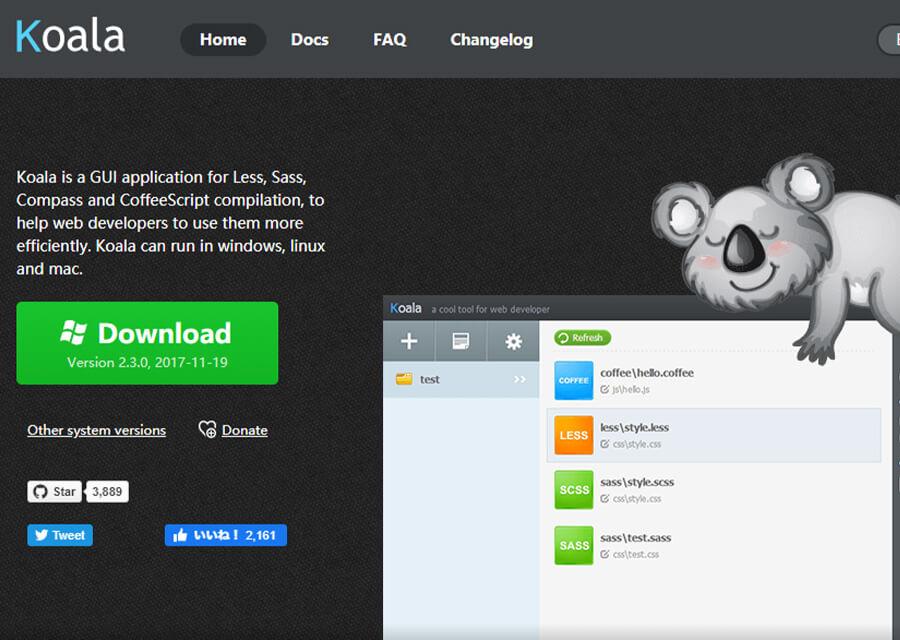 【Sass(SCSS)】Koalaを使ってコーディング効率化